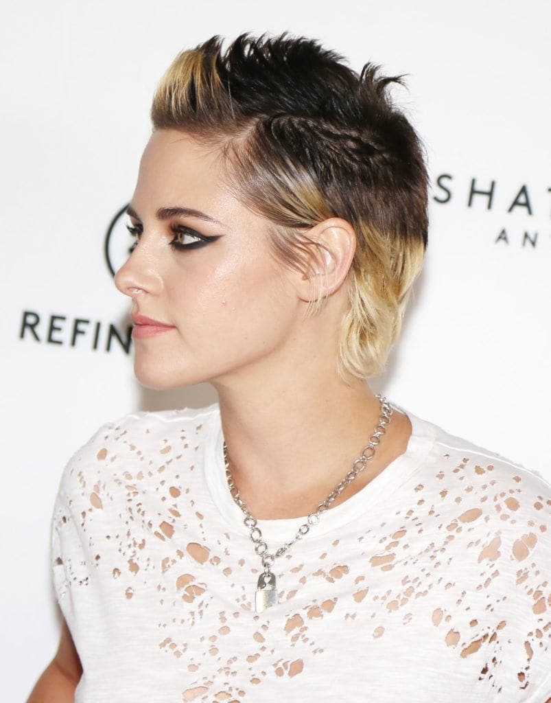 Kristen Stewart with an ombre mohawk hairstyle - androgynous haircuts