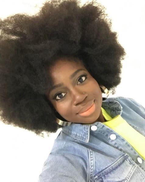 afropunk festival hair: Clara Amfo's big afro