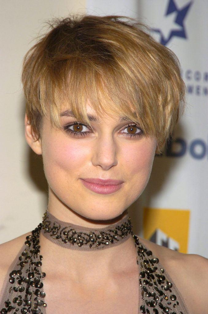 Pixie frizura Keira Knightley