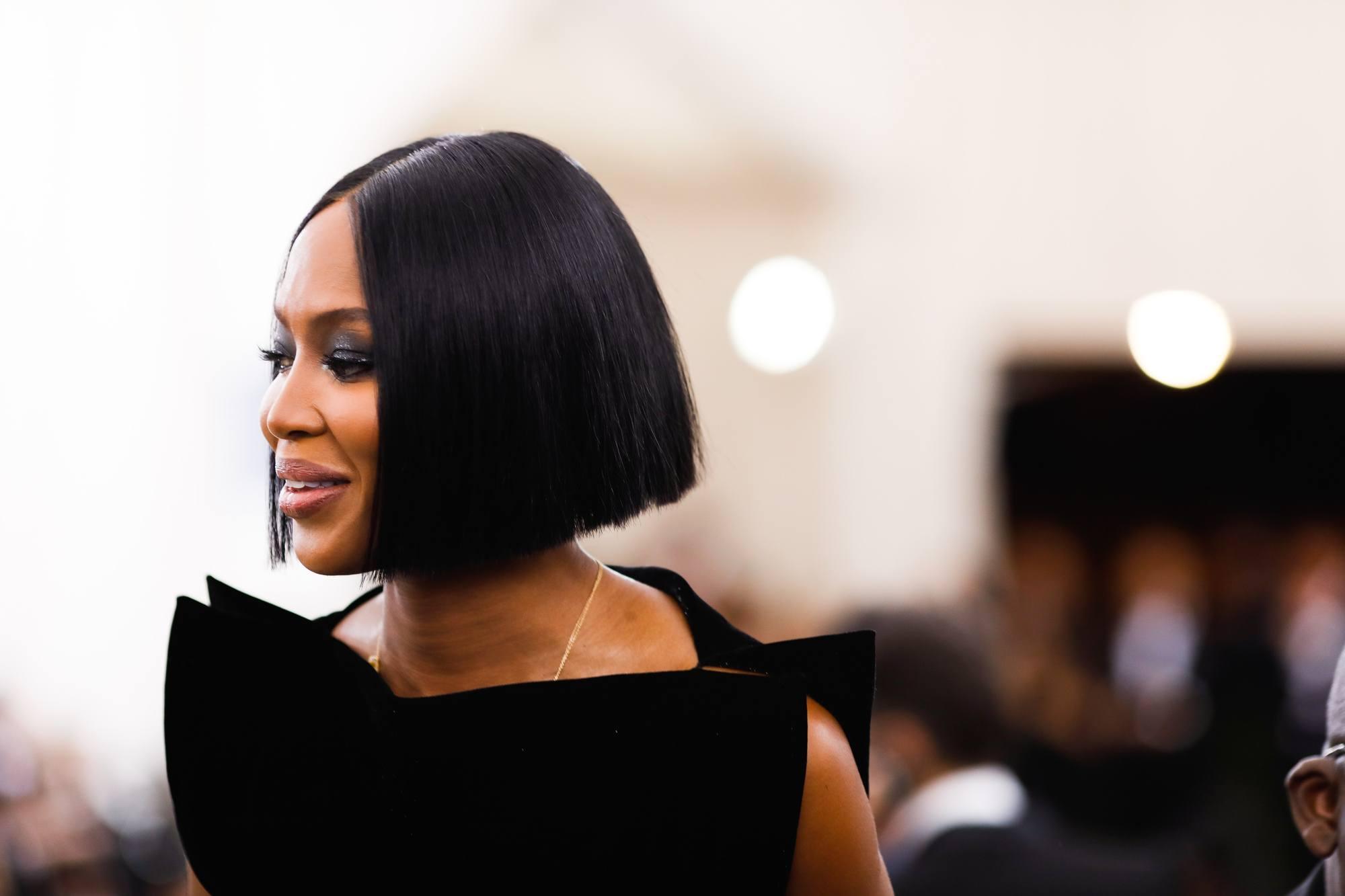 Naomi Campbell's blunt bob at the Met gala 2017