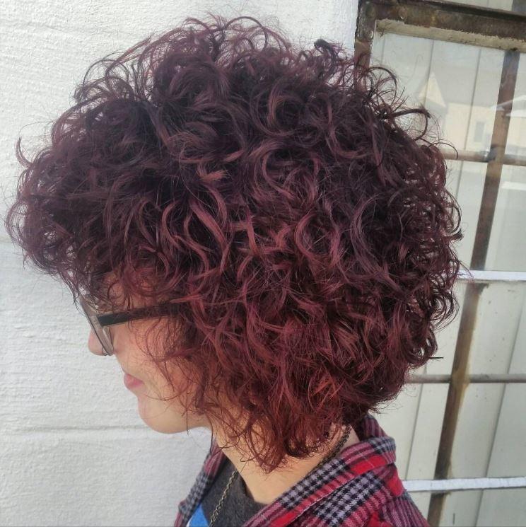 Perm hair - bob length hair - red natural looking curls - IG