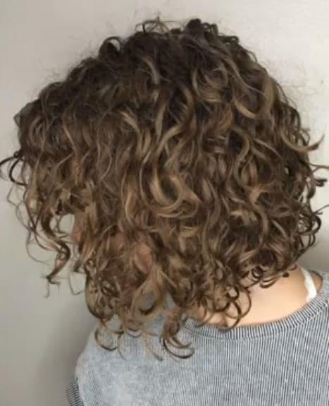 Perm Hair - tight perm on bob hair