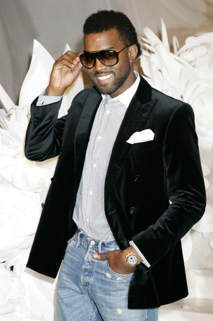 Kanye West in 2009 with 'frohawk