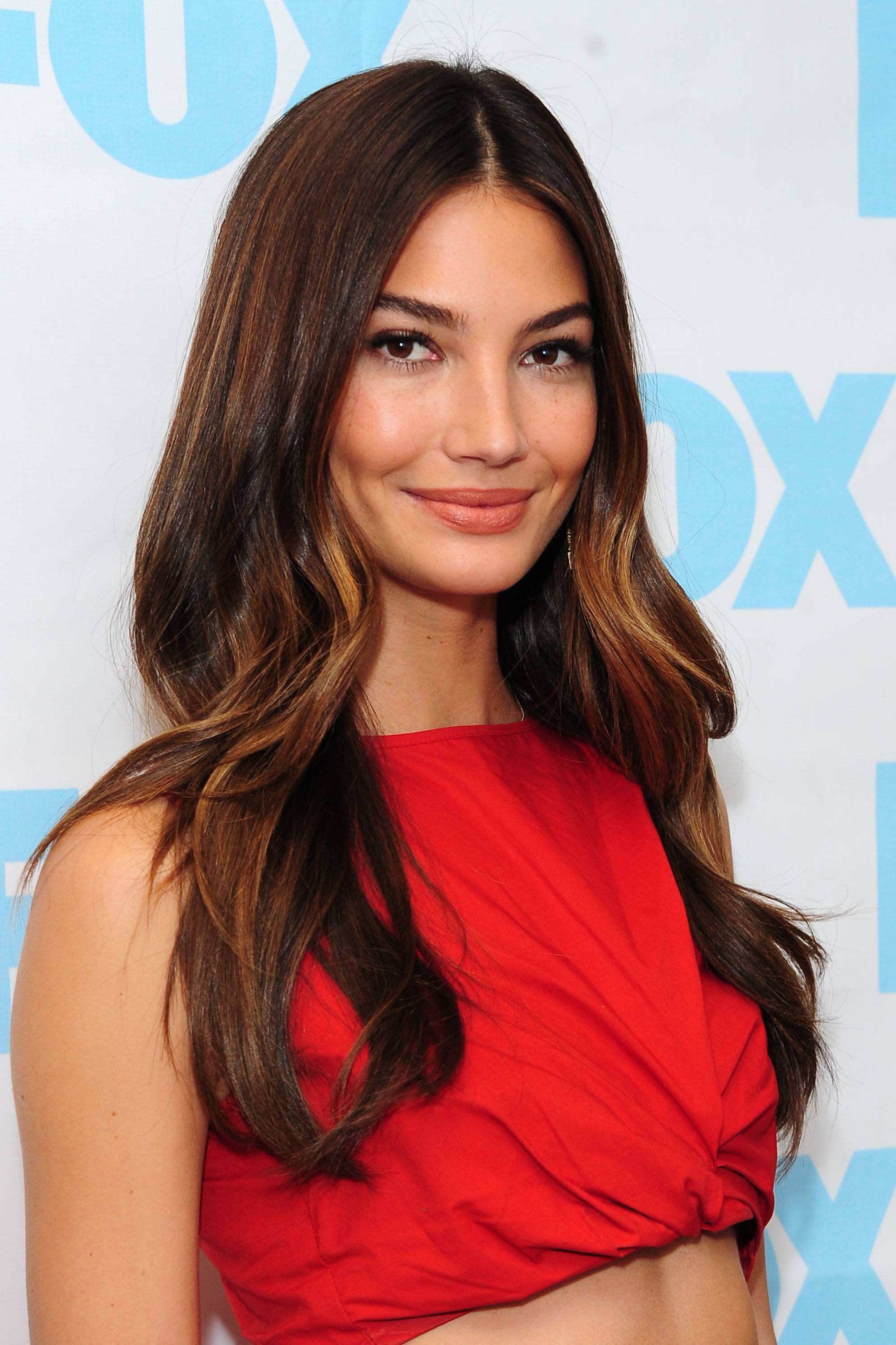 chocolate brown hair: lily aldridge with semi-sweet chocolate hair