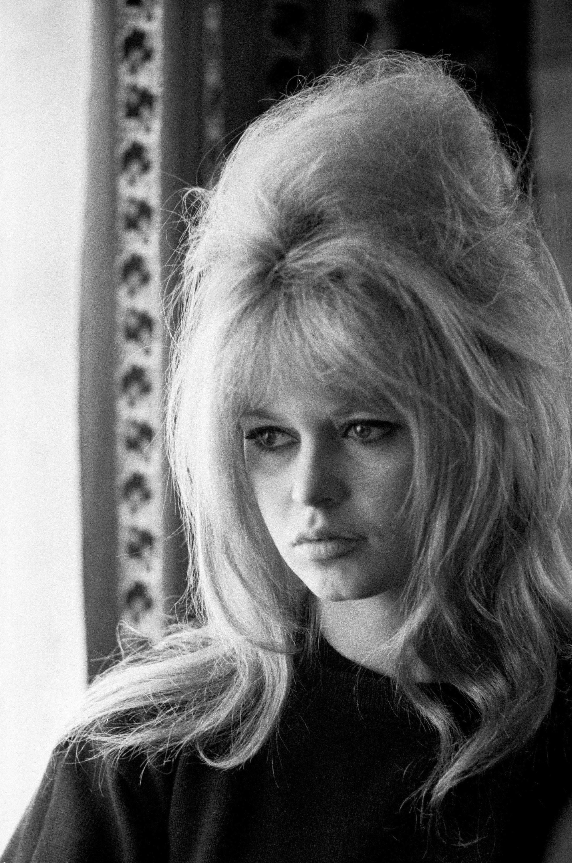 french 60s actress brigitte bardot with her blonde hair in a beehive