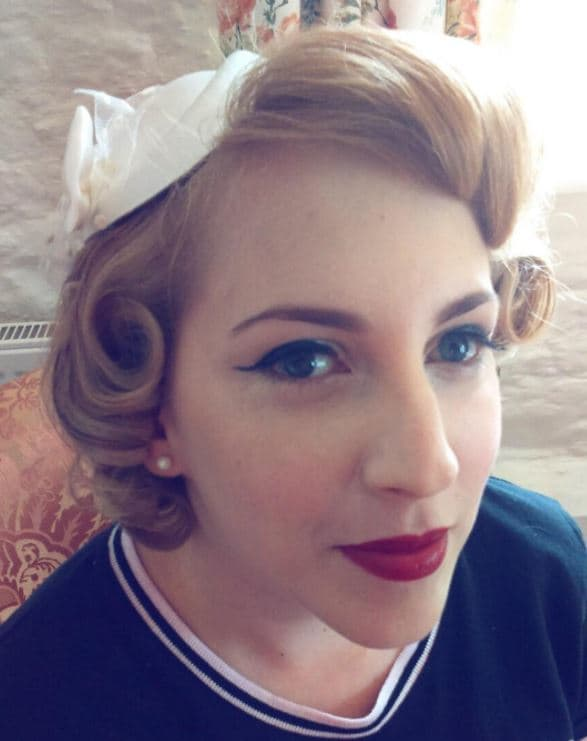 Vintage wedding hairstyles - strawberry blonde hair with victory rolls