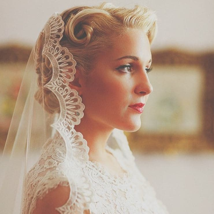 Vintage wedding hairstyles -