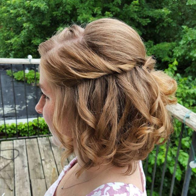 10 Short Hair Wedding Updos That Ll Take You Breath Away