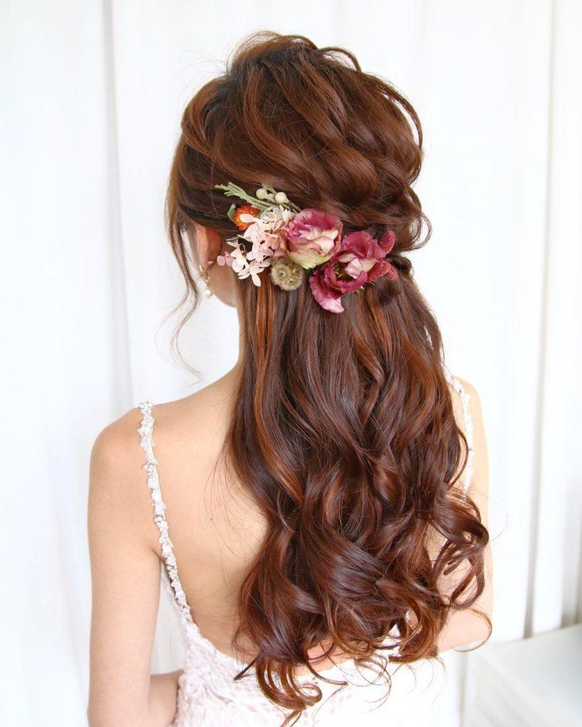 23 Stunning Half Up Half Down Wedding Hairstyles