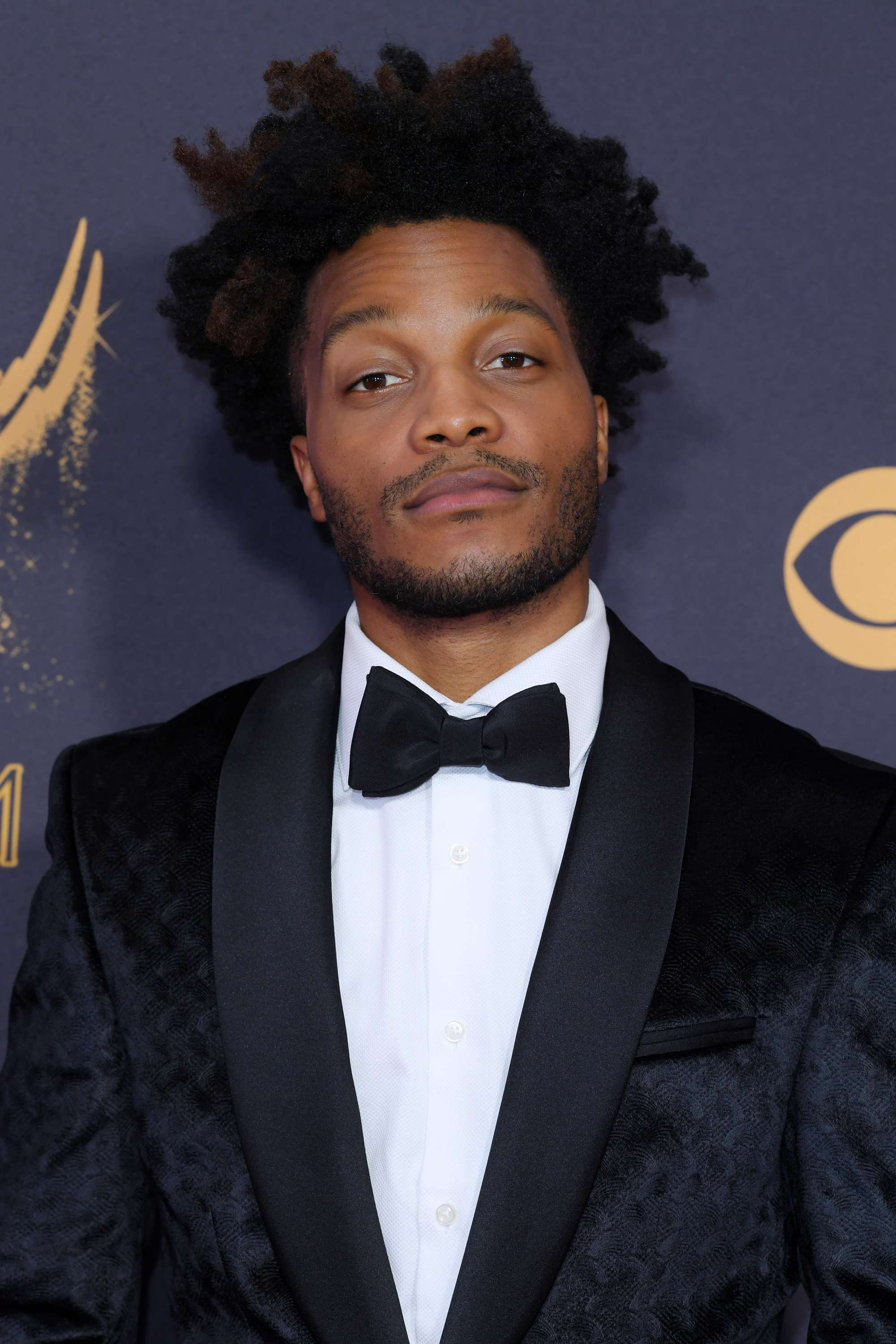 Emmy Awards 2017: Jermaine Fowler with mid length afro hair