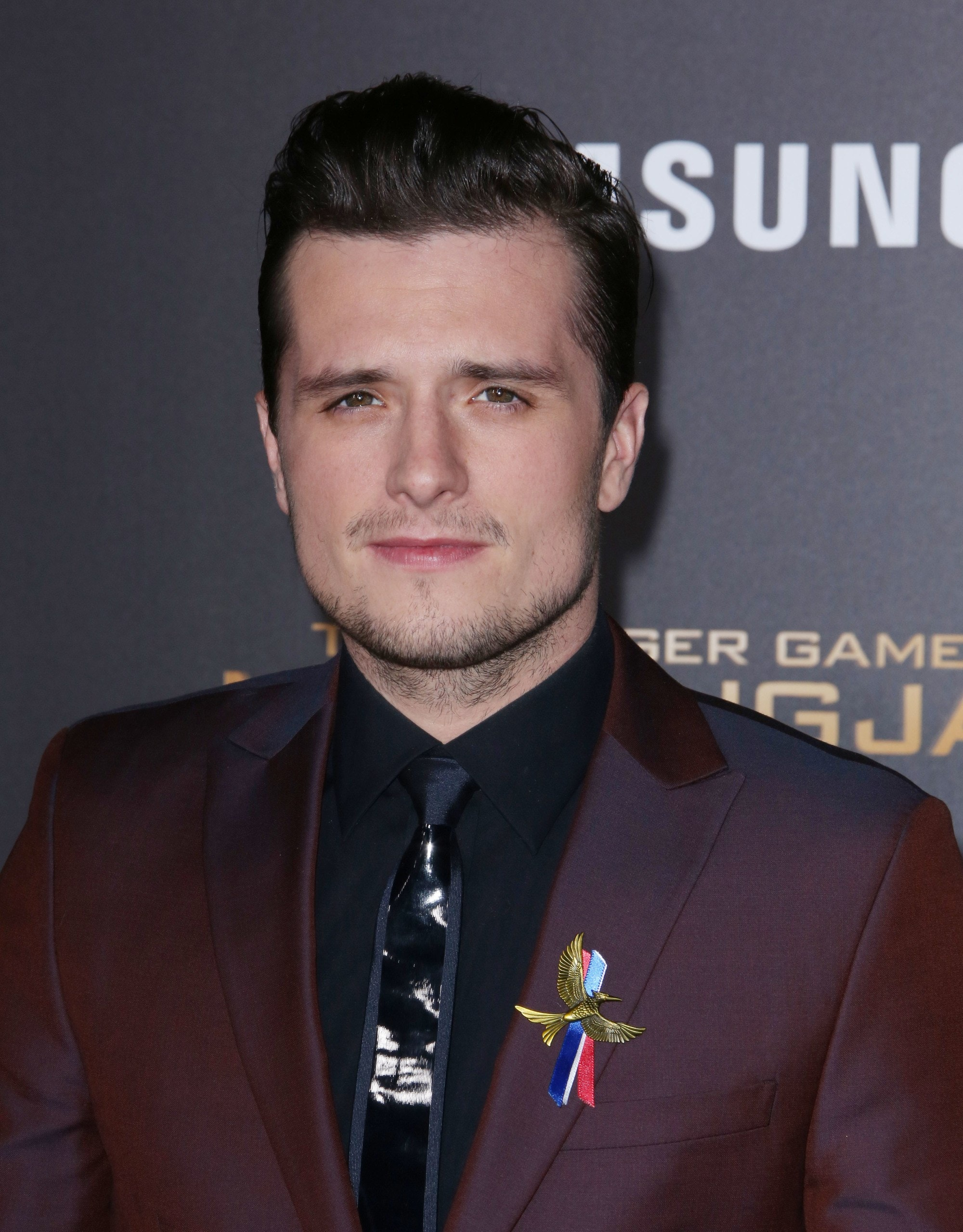 hunger games actor Josh Hutcherson with a peaked quiff style