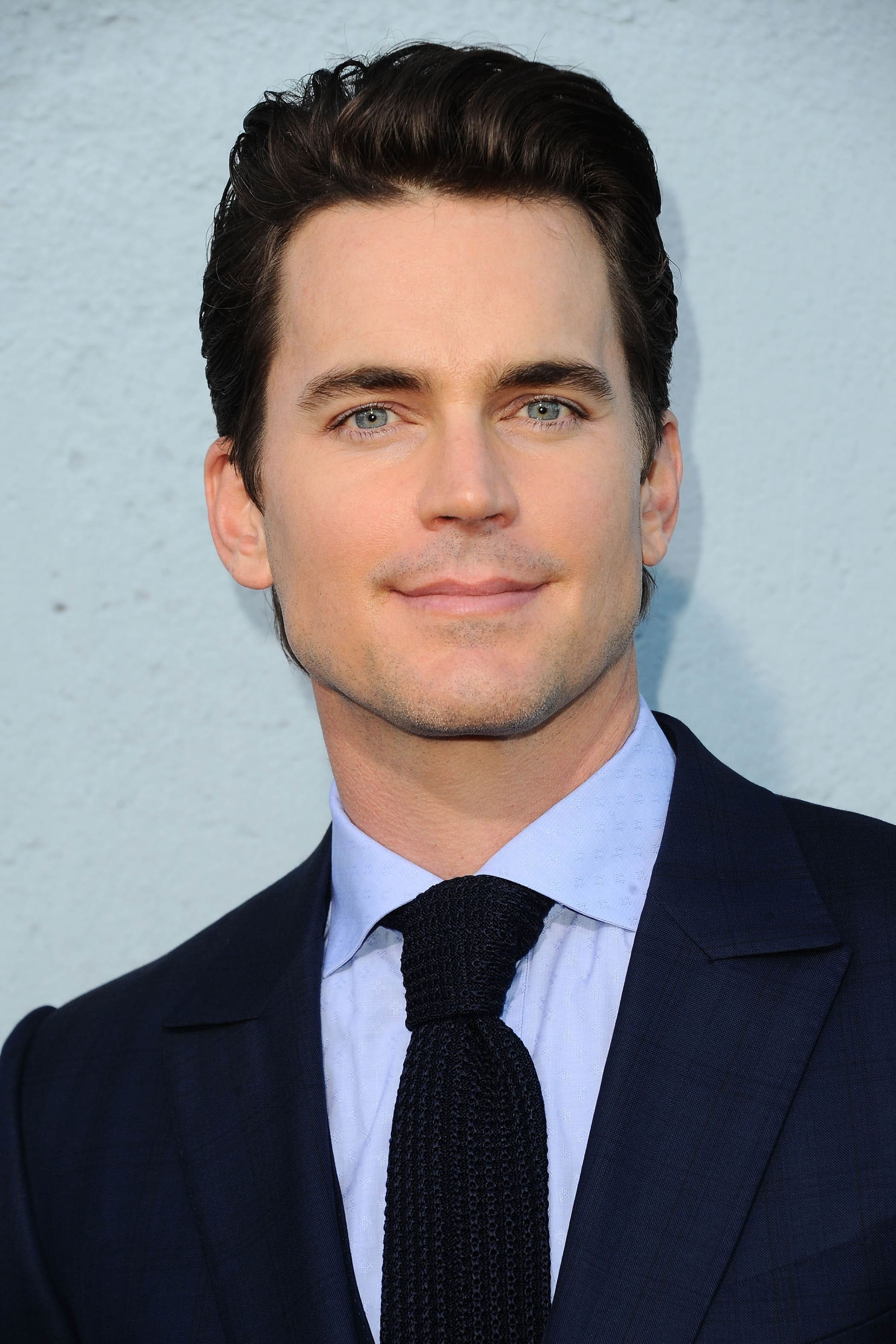 american actor matt bomer with his dark brunette hair in a classic quiff style