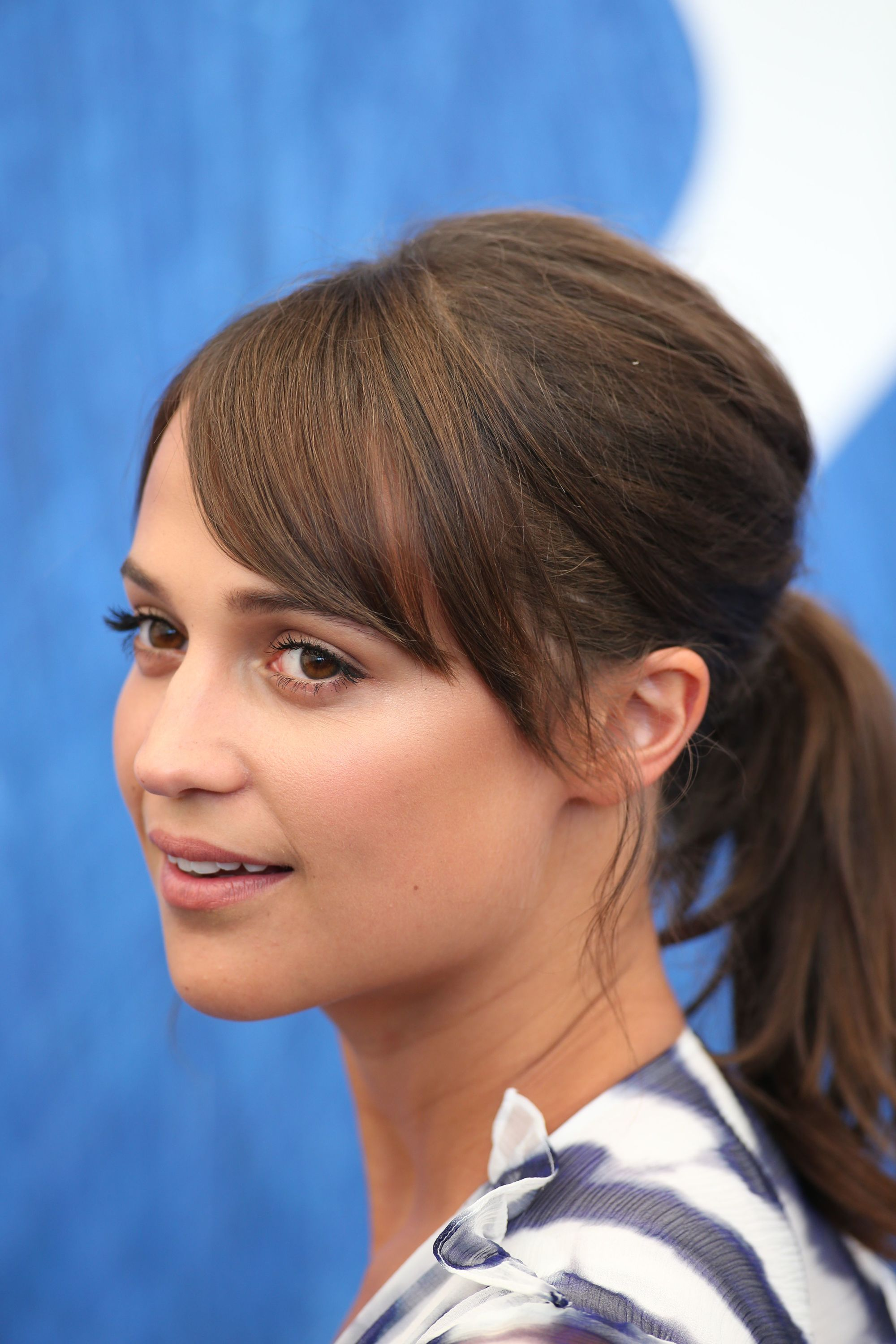 swedish actress alicia vikander at the venice film festival in 2016 with tinkerbell style bangs