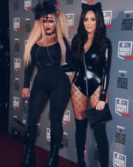geordie shore stars holly hagan and charlotte crosby at the kiss halloween party