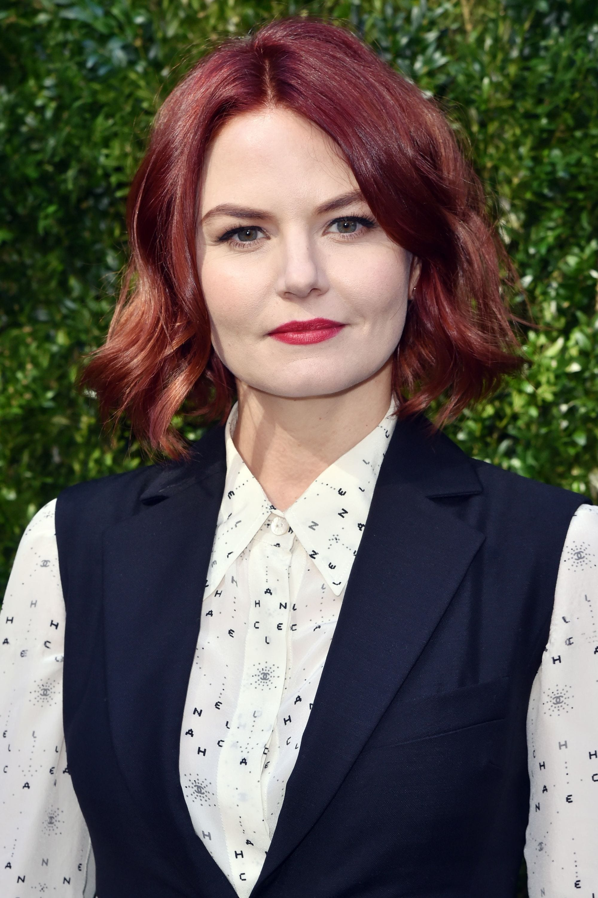 once upon a time and house actress jennifer morrison with red hair at the chanel tribeca lunch