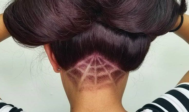 Peachy Spooky Spider Web Hairstyles For Halloween And Beyond Natural Hairstyles Runnerswayorg