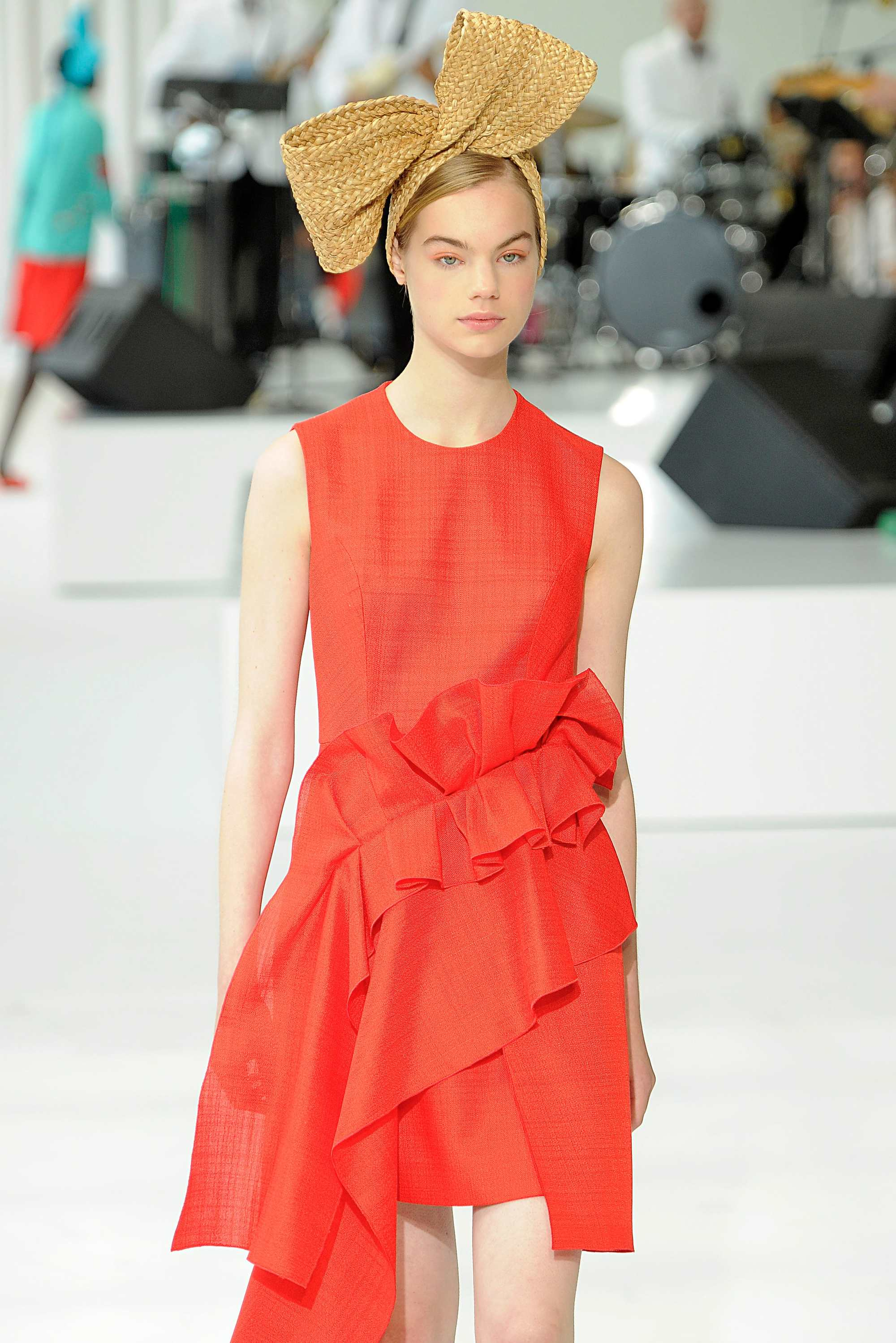Ideas for crazy hair day: Runway model with a giant oversized bow hair accessory
