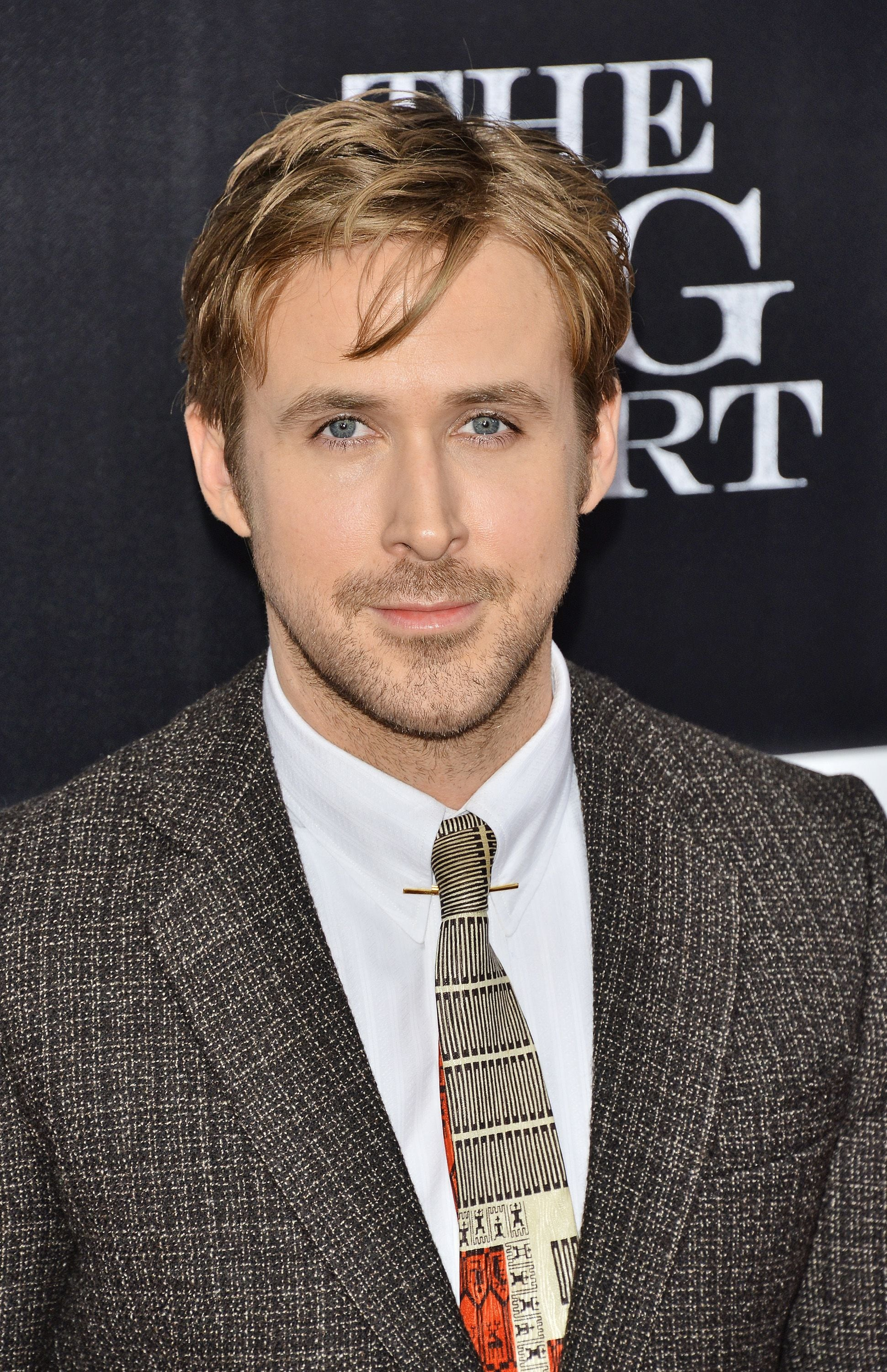 Ryan Gosling haircut: Ryan Gosling with a mid-length floppy textured haircut