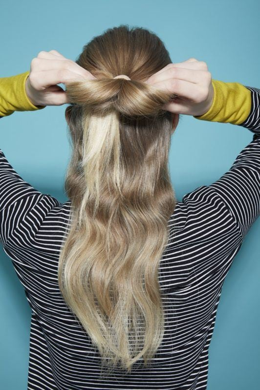 Bow hairstyle Hair bow tutorial blonde girl