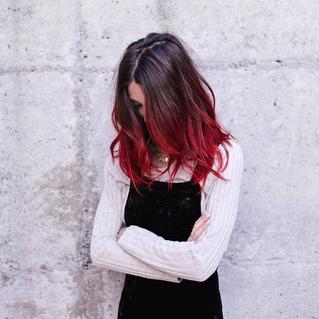 Red And Black Hair Colour Combinations