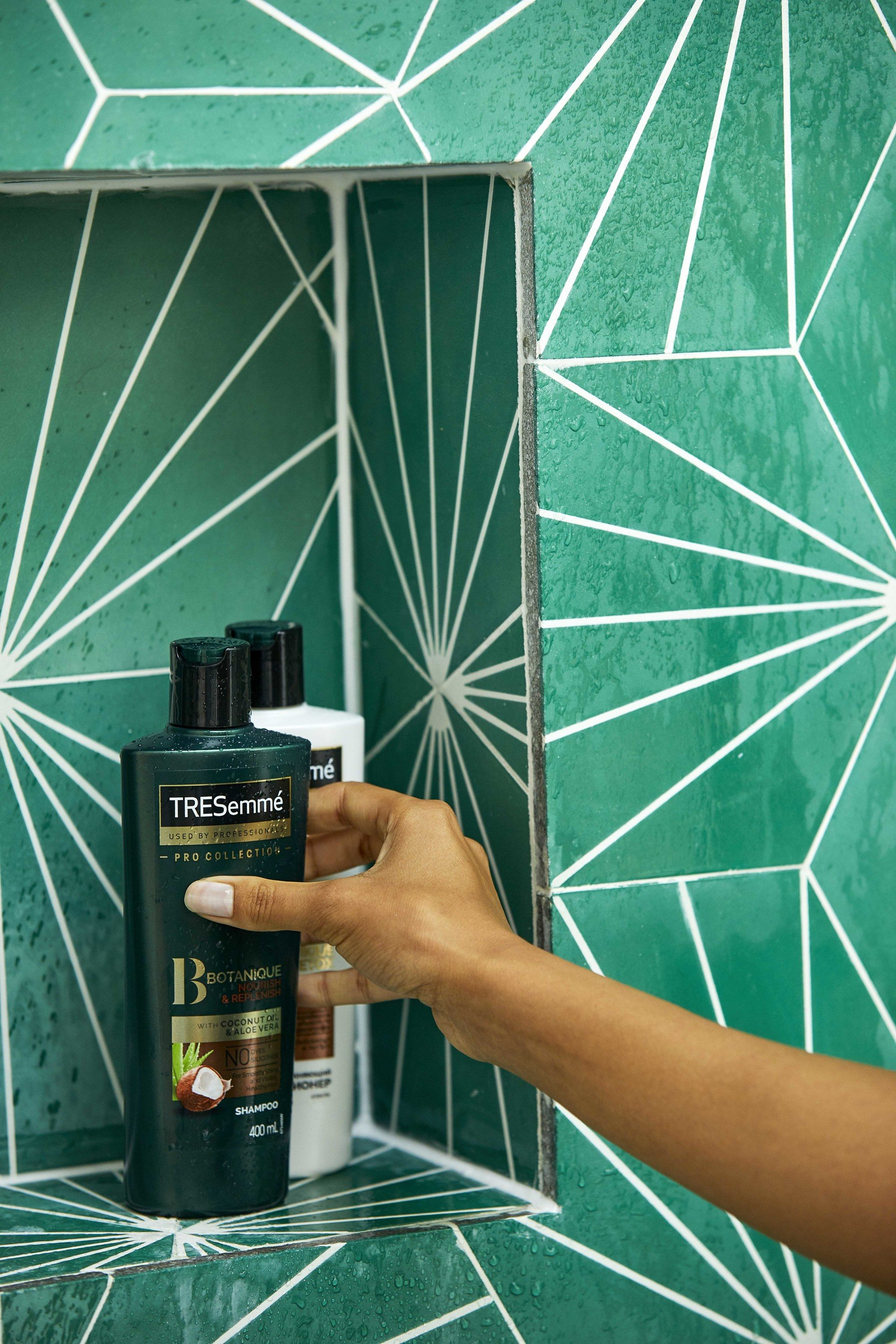 shot of the TRESemme Botanique Nourish & Replenish Shampoo and Conditioner