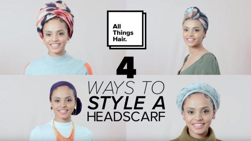 Preview of 4 different ways to wear a headscarf
