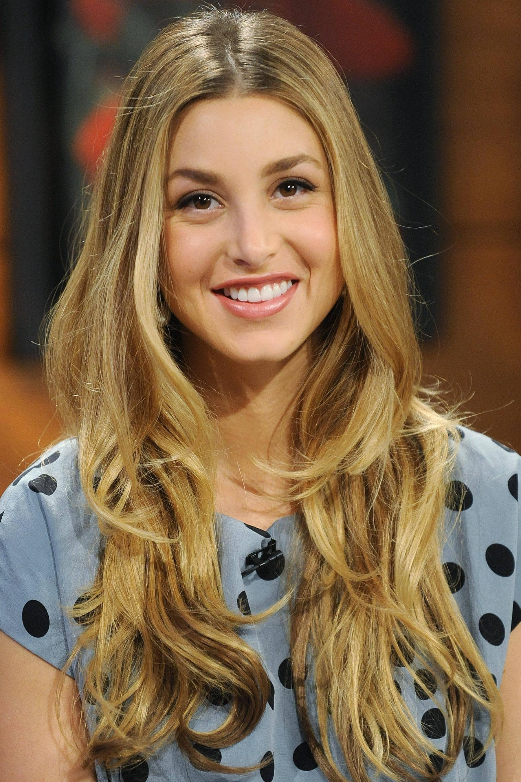 Whitney Port from MTV show The Hills with long blonde layered hair