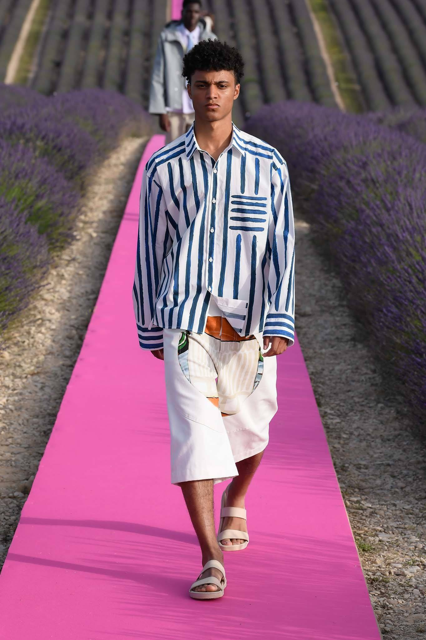 Male model with afro high top