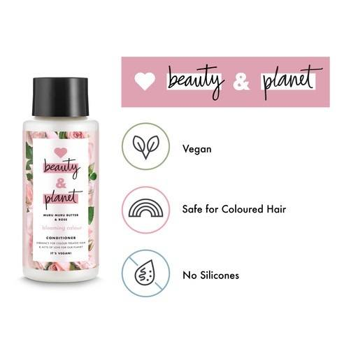 Love Beauty And Planet vegan info graphic of colour conditioner