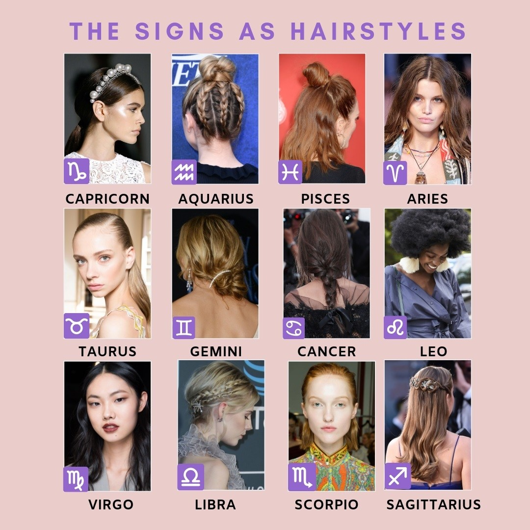 Your 2019 Hair Horoscope Zodiac Hairstyles And More All Things