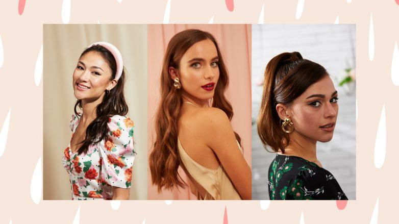 Women with Valentine's Day hairstyles