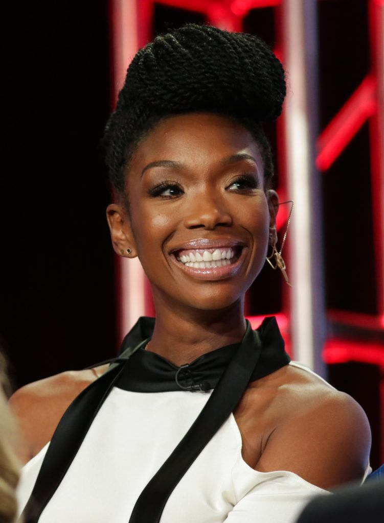 Brandy with briaded updo