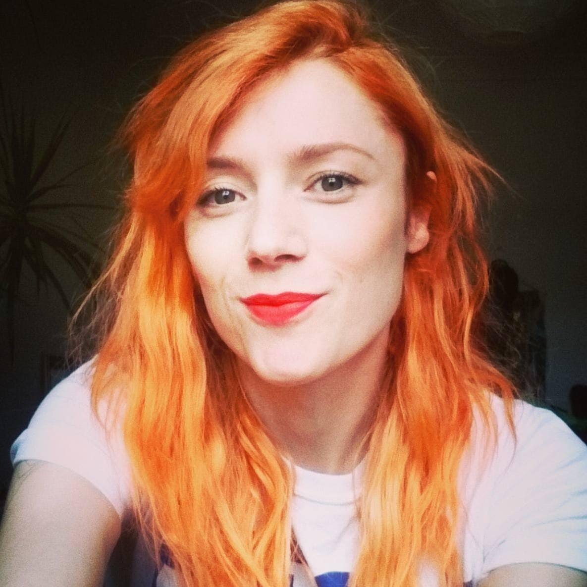Rhyannon Styles with long orange hair