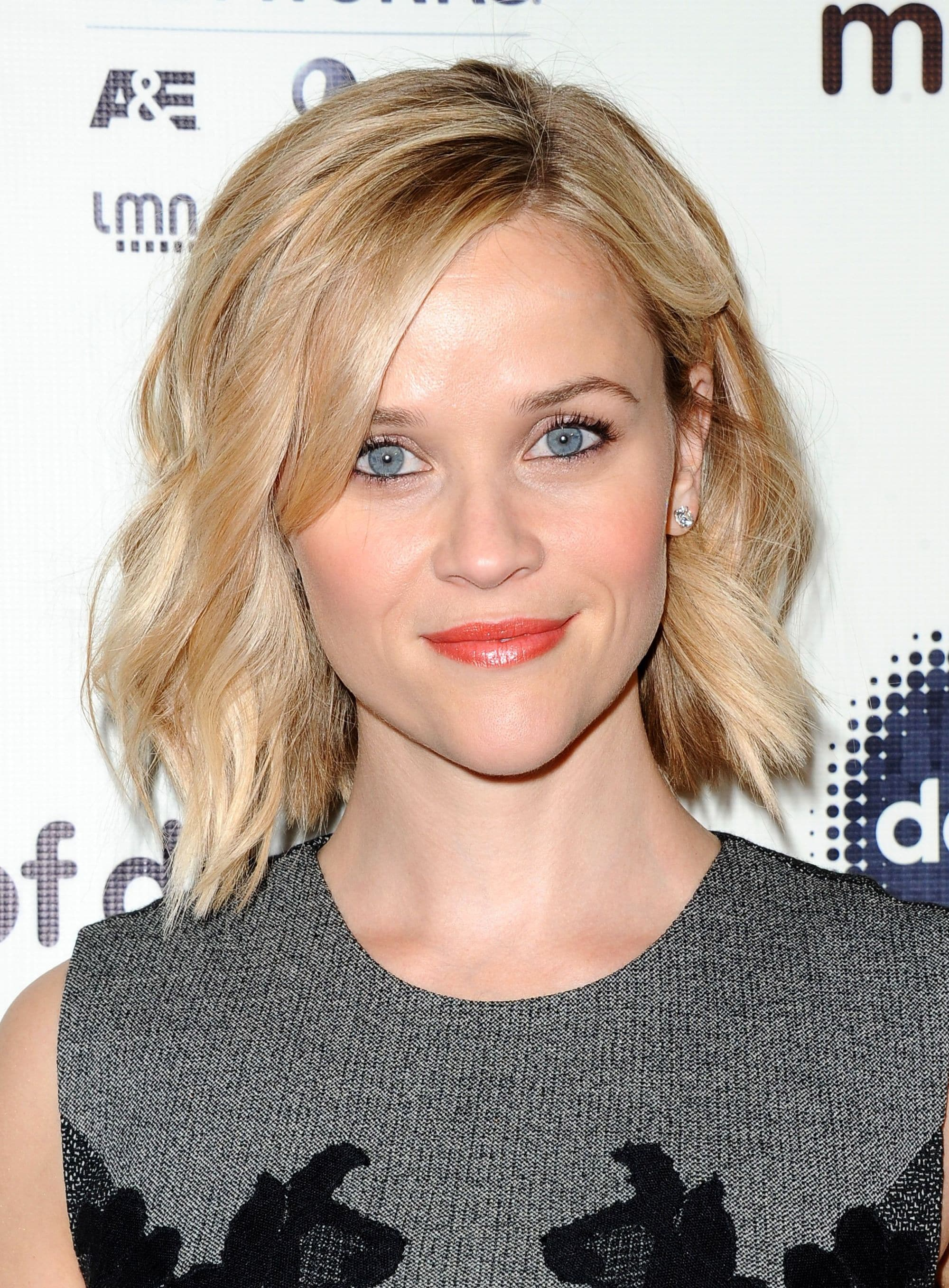 Reese Witherspoon with a blonde wavy bob