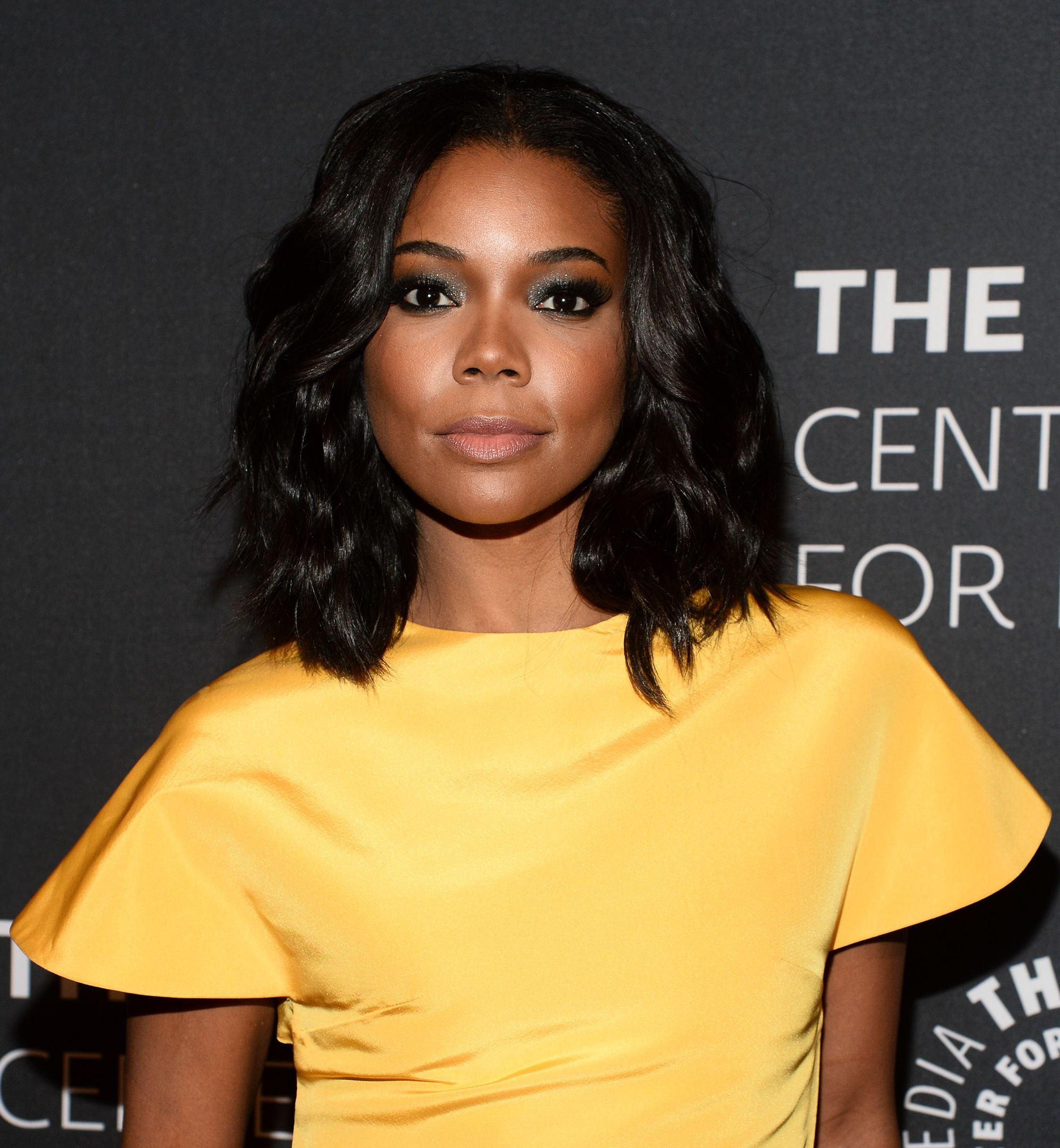 Gabrielle Union with a black wavy long bob