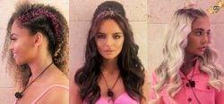 three Love Island girls with VO5 glitter in their hair