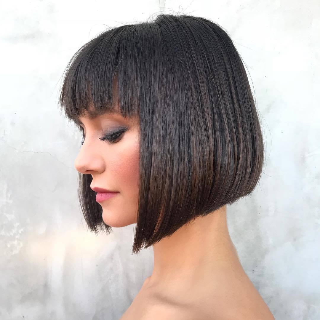 Short Bob Haircut 2020 With Bangs