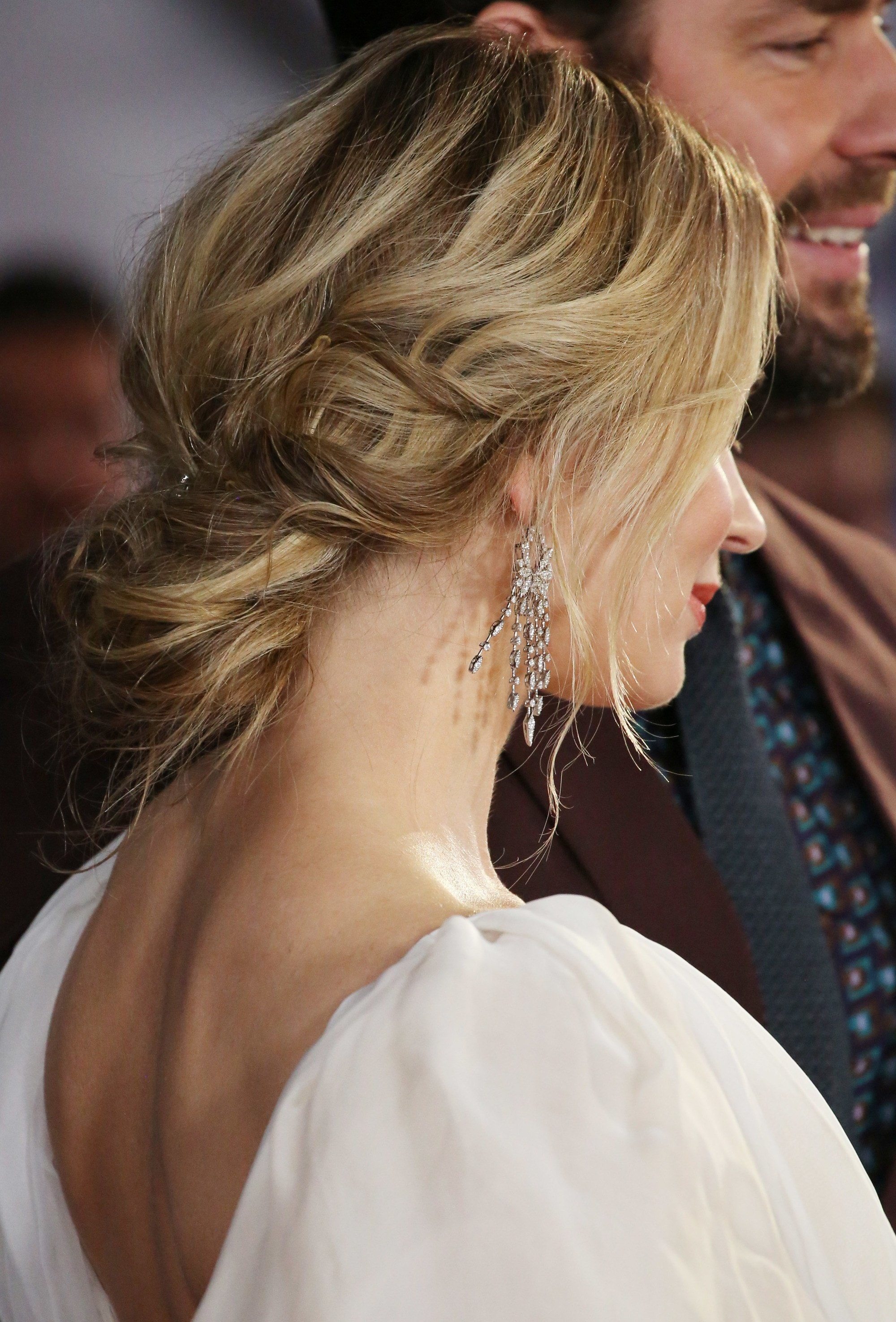 Woman with bronde low chignon