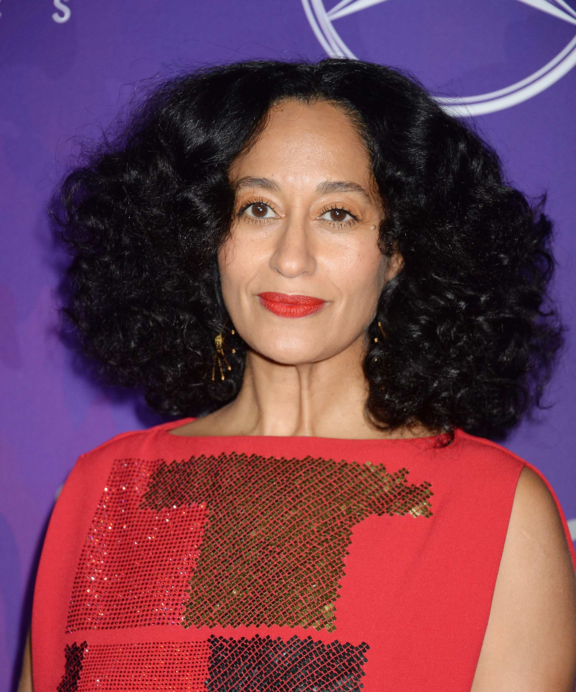 Tracee Ellis Ross with curly lob hair