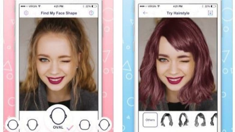 Pleasing Find The Best Hairstyles For Your Face Shape With These Handy Apps Schematic Wiring Diagrams Amerangerunnerswayorg