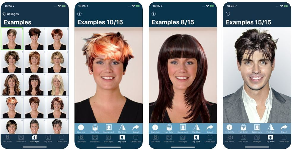 Screenshot of Hairstyles to Try on by KBMSoft ApS. app