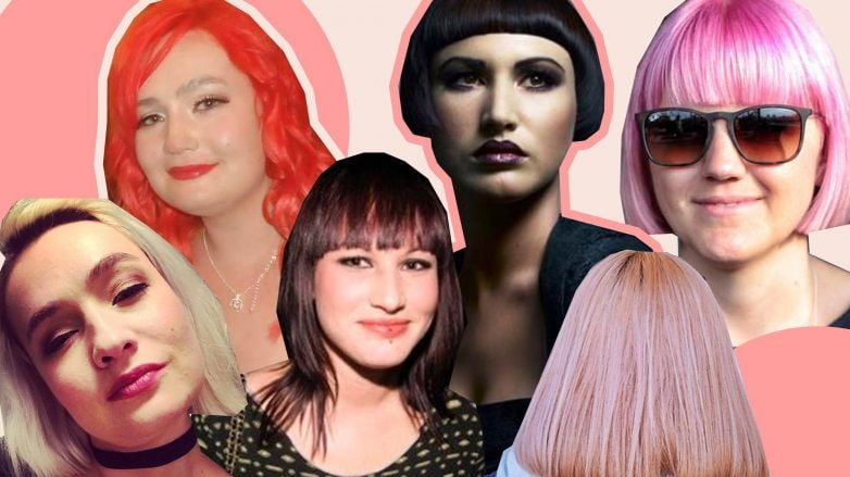 Women with all different hairstyles and hair colours