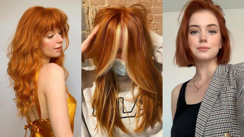 Three women with ginger hair