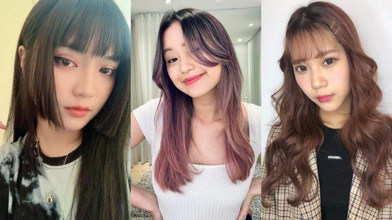 Three women with Asian hairstyles