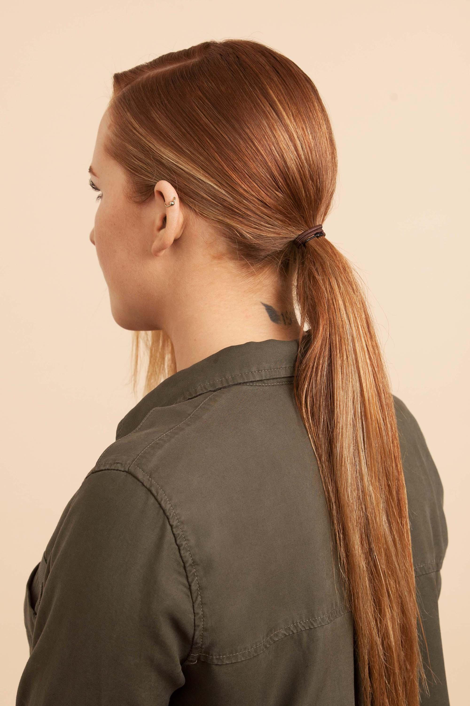 chignon perfecto cabello rojo