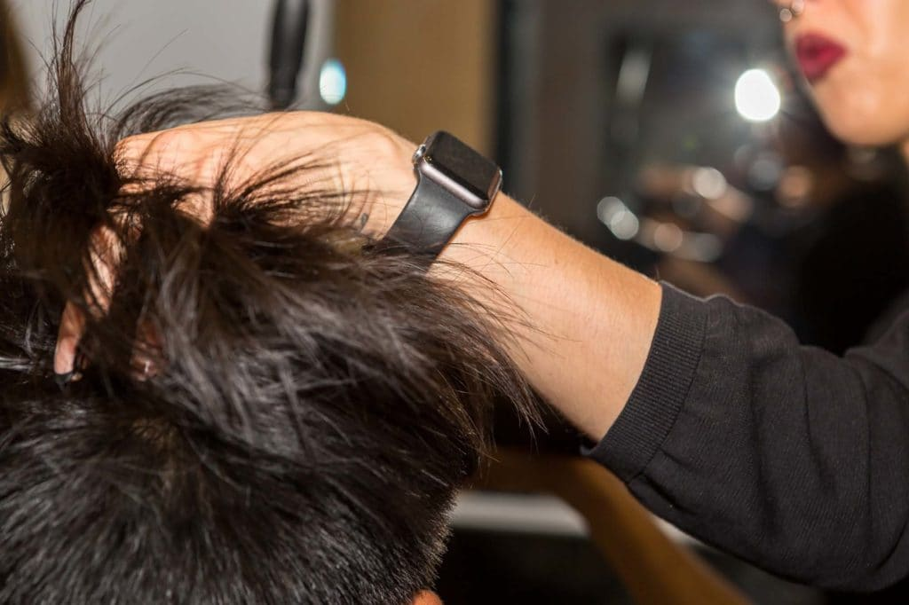 peinado pompadour