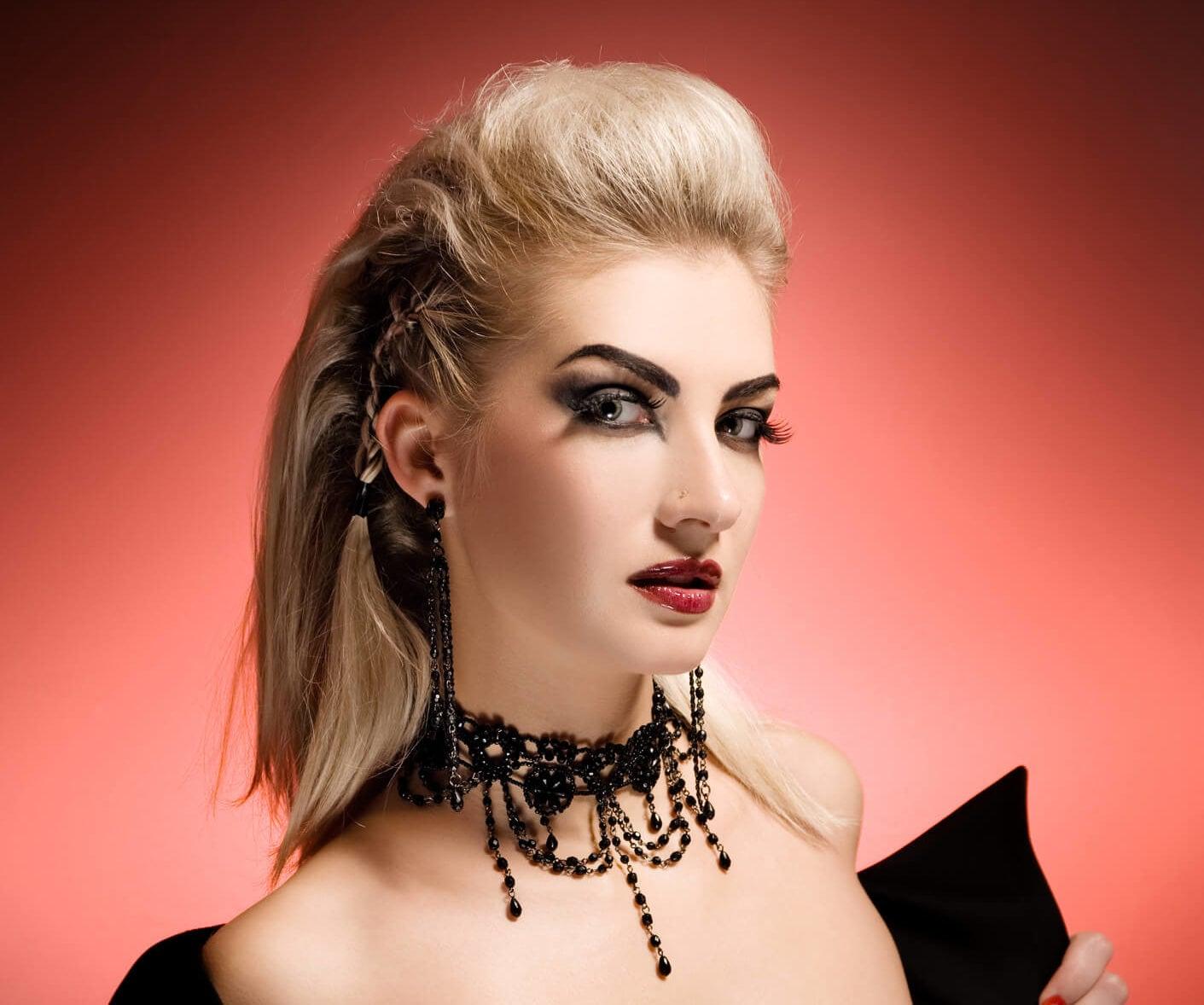 peinados halloween de guerrera