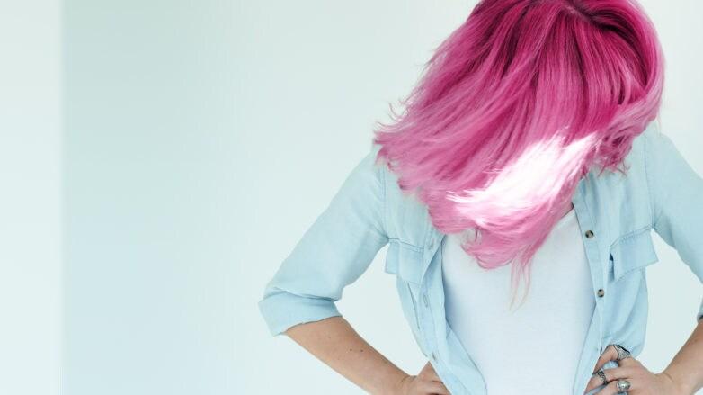 shampoo sin sulfato pelo rosado