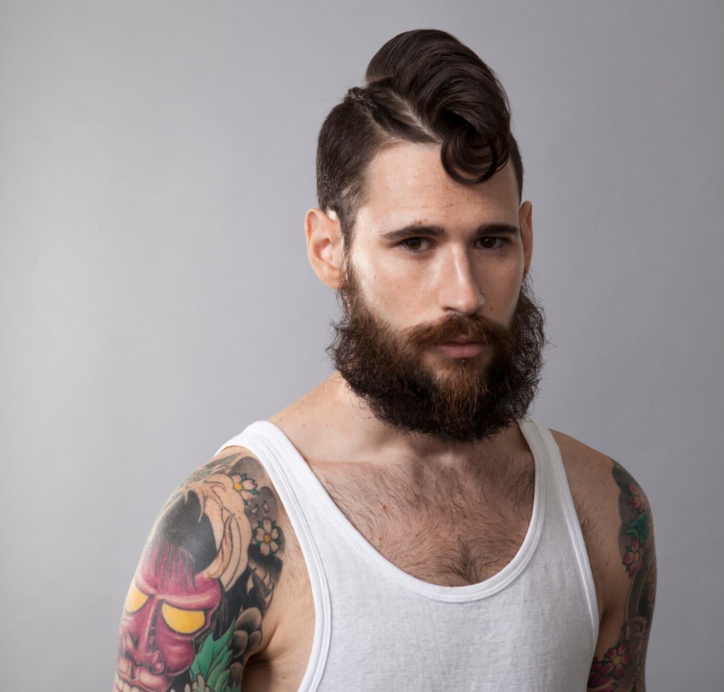 mohicano peinado con rodete