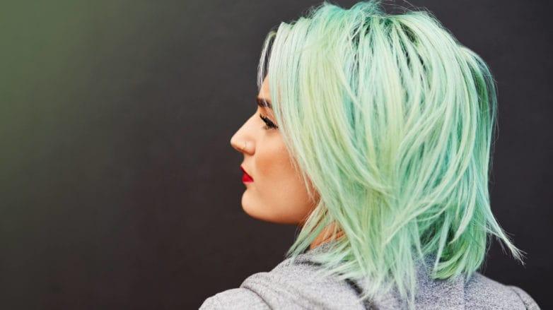 color de pelo verde pastel